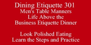 Men's Table Manners Know What Others Know Dining...