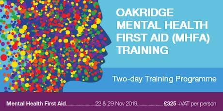 Mental Health First Aid (MHFA) Training - 22nd & 29th Nov  -15% Discount tickets