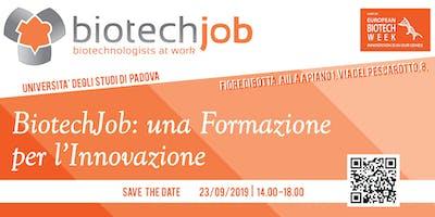 BiotechJob: una Formazione per l'Innovazione
