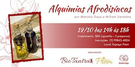 Oficina de Alquimias Afrodisíacas ingressos
