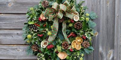 Christmas Wreath Workshop, Shireoaks, Notts.