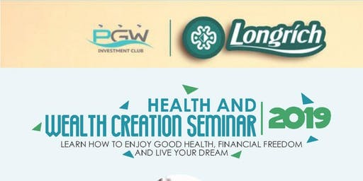 Health and Wealth Creation Seminar 2019