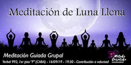 Meditación Grupal Guiada de Luna entradas
