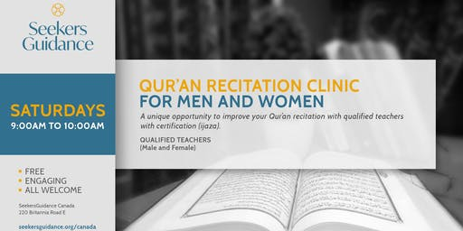 Qur'an Recitation Workshops for Men and Women