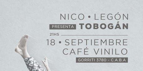 Nico Legón presenta Tobogán entradas