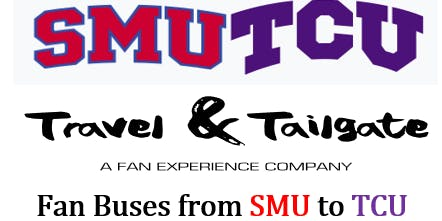 SMU vs  TCU- Fan Bus from Dallas to Ft. Worth (Amon G. Carter Stadium)