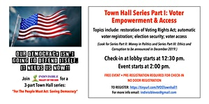 Town Hall  Series: For the People Must Act: Saving...