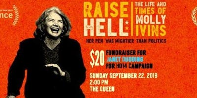 Molly Ivins documentary coming to The Queen 9/22!