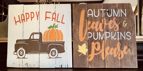Fall Pallet Painting Event tickets
