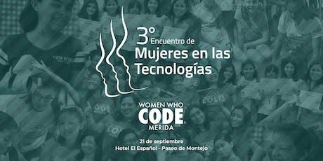Tercer Encuentro de Mujeres en las Tecnologías boletos