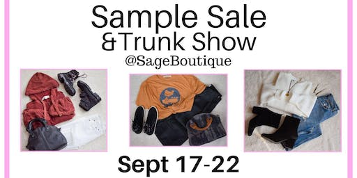 Sample Sale and Trunk Show