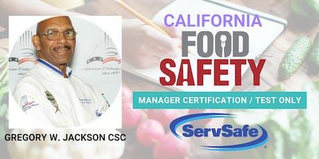 ServSafe® FOOD SAFETY MANAGER CERTIFICATION & TEST ONLY tickets