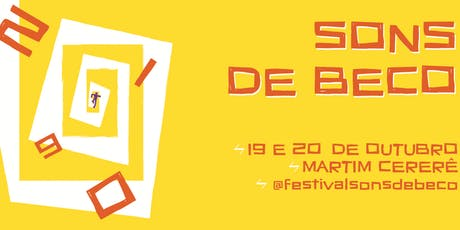 Festival Sons De Beco 10° Edição ingressos