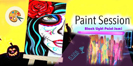 Black Light Paint Jam - Sugar Skull Edition -