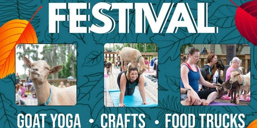 Goat Yoga @ Fall Wellness & Advocacy Festival