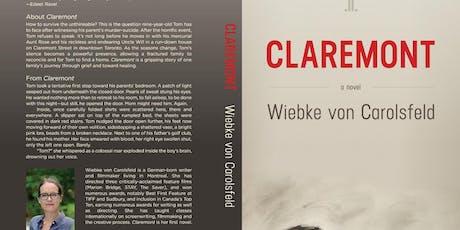 """Wiebke von Carolsfeld """"Claremont"""" Book Event October 17th @5pm tickets"""