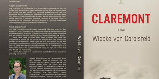 "Wiebke von Carolsfeld ""Claremont"" Book Event October 17th @5pm"