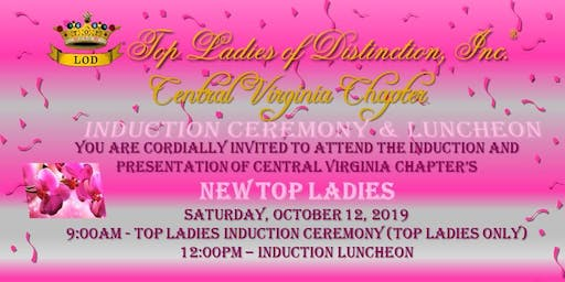 Top Ladies of Distinction, Inc., Central Virginia Chapter Induction Luncheon