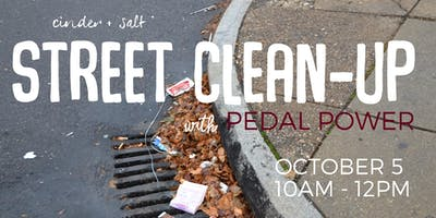 cinder + salt Street Clean-Up with Pedal Power in Middletown CT