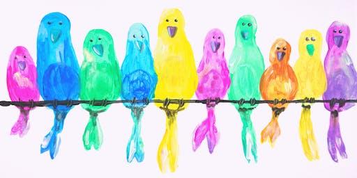 """Kinder Kreativ Workshop """"Bunte Vögel"""""""