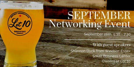 Lot 10 Brewing Networking Event - Amherstburg Chamber of Commerce tickets