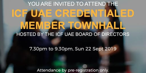 ICF UAE Credentialed Members Town hall