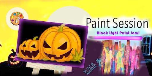 Black Light Jack-o-Lantern Paint and Jam -Middlesex,NJ
