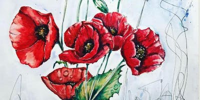 Poppies Exclusive Art Class with a skill focus and subject focus
