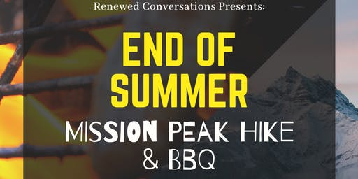 Renewed Conversations Mission Peak Hike and BBQ