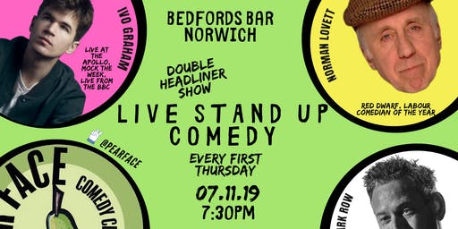Live Stand up Comedy with headliners Ivo Graham & Norman Lovett