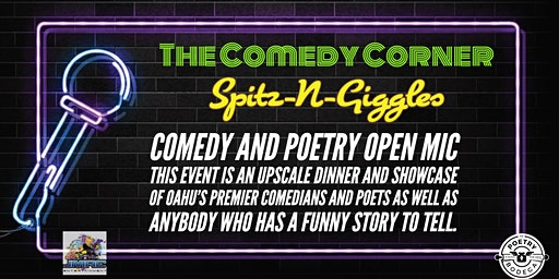 The Comedy Corner + Poetry Open Mic