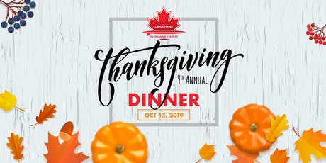 Canadian Thanksgiving 2019 tickets