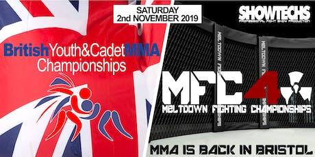 British Youth & Cadet MMA Championships + Meltdown MMA 4 tickets
