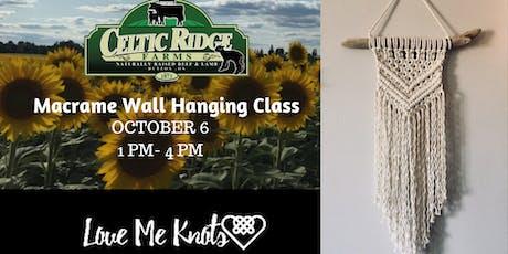 Macrame Workshop at Celtic Ridge Farms tickets