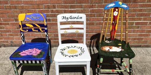 Artist Painted Garden Chair Auction - Franklin Square Historical Society