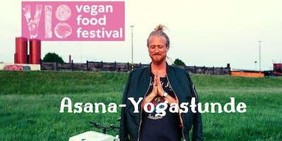 Kostenfreie Asana-Yogastunde beim  Vegan Food Festival in Fürth