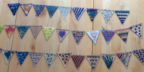 Fused glass bunting £45 tickets