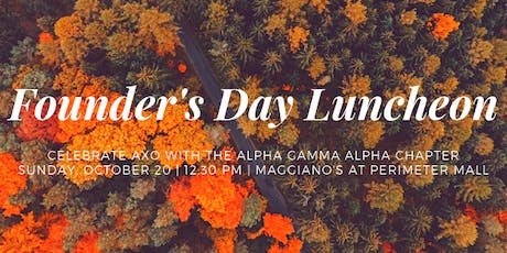 Alpha Gamma Alpha Founder's Day Luncheon tickets