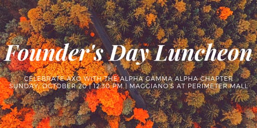 Alpha Gamma Alpha Founder's Day Luncheon