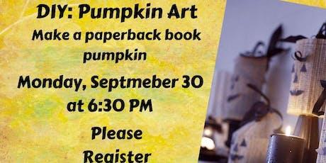 DIY: Pumpkin Art, make a paperback book pumpkin tickets