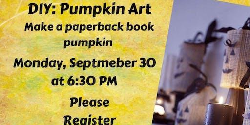 DIY: Pumpkin Art, make a paperback book pumpkin