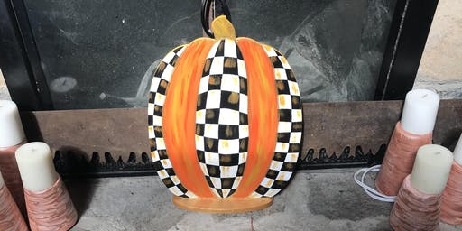 Wooden Pumpkin Paint Party