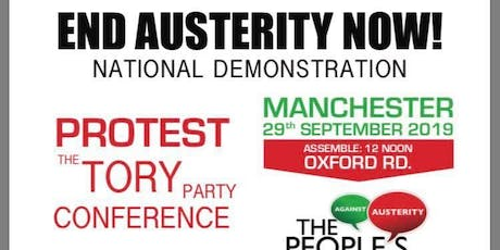 Leeds coach to Manchester to the protest against Tory Party Conference tickets