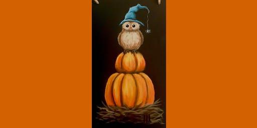 Spooky Owl Chalkboard Sign
