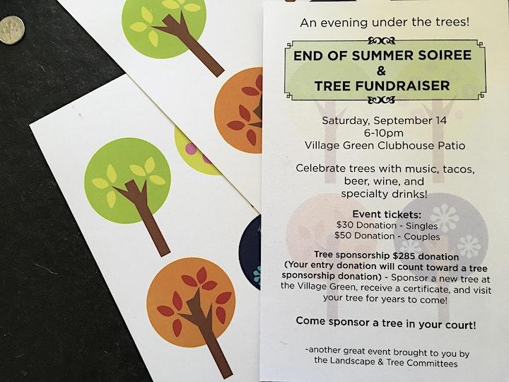 End of summer soirée, tree fundraiser image
