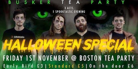 Busker Tea Party - Halloween Special @Bostonteaparty tickets