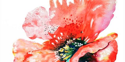 Watercolor Art Class: Abstract Poppy  Thursday October 24