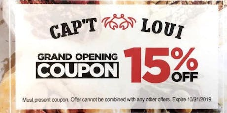 Grand Opening Event - Cap't Loui Brooklyn tickets