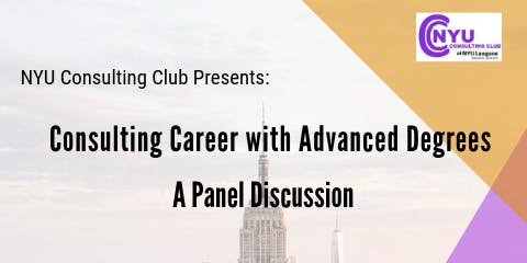 Consulting Career with Advanced Degrees: A Panel Discussion