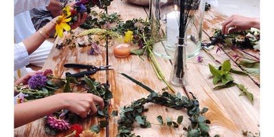 Flower Crown Workshop + Salt Cave Session